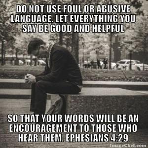 Ephesians 4.29 meme